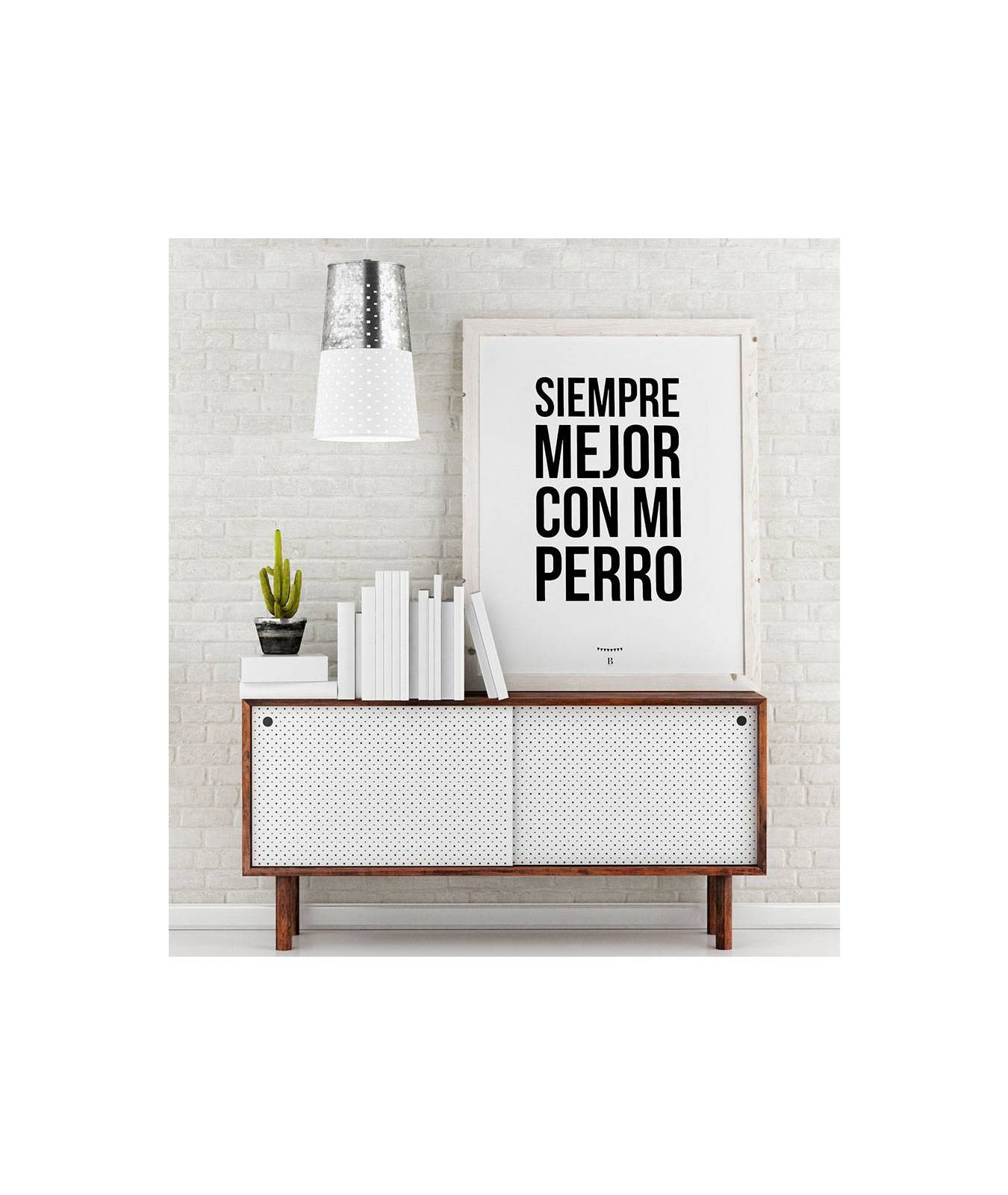 L mina decorativa brott barcelona always better with my dog para dog lovers - Laminas decorativas para pared ...
