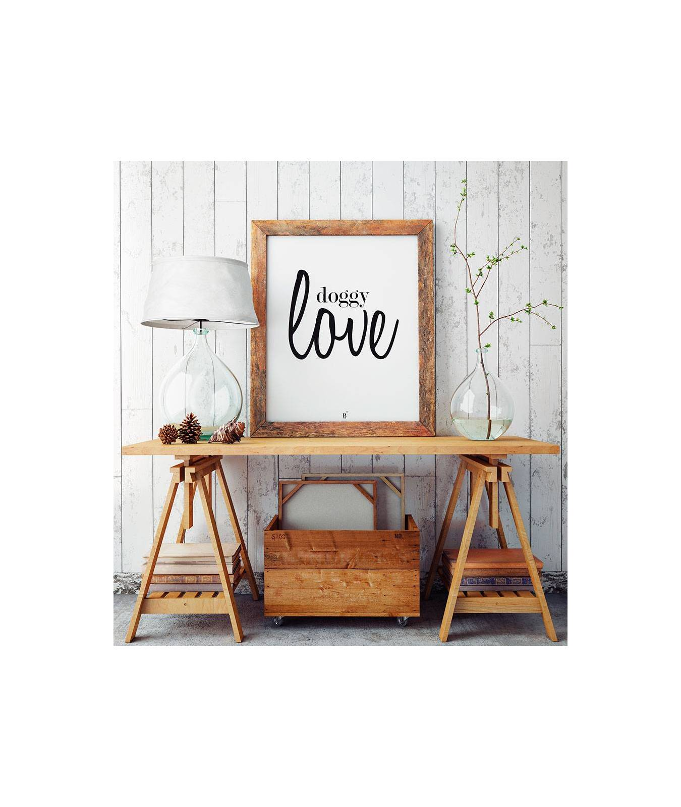 L mina decorativa brott barcelona doggy love para dog lovers - Laminas decorativas para pared ...