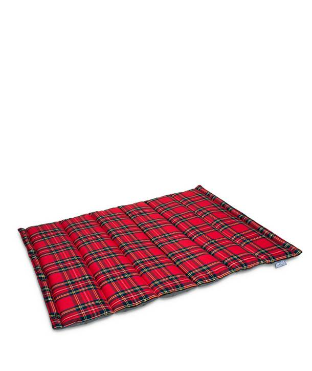 RED TARTAN ROLL BED