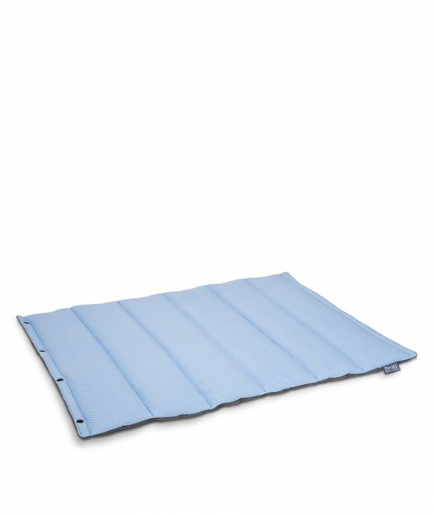 BLUE ROLL BED