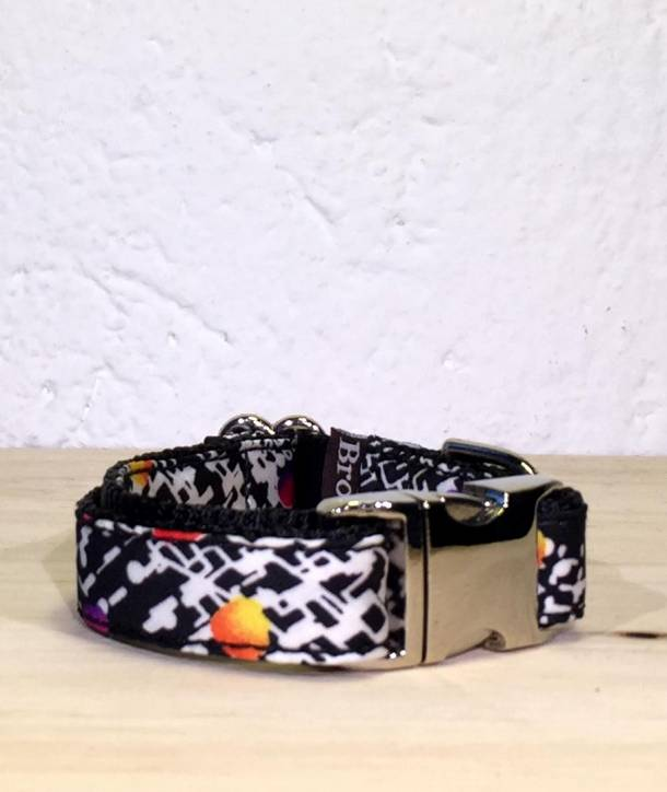 BIG SIZE DOG COLLAR TEXTURA SALT