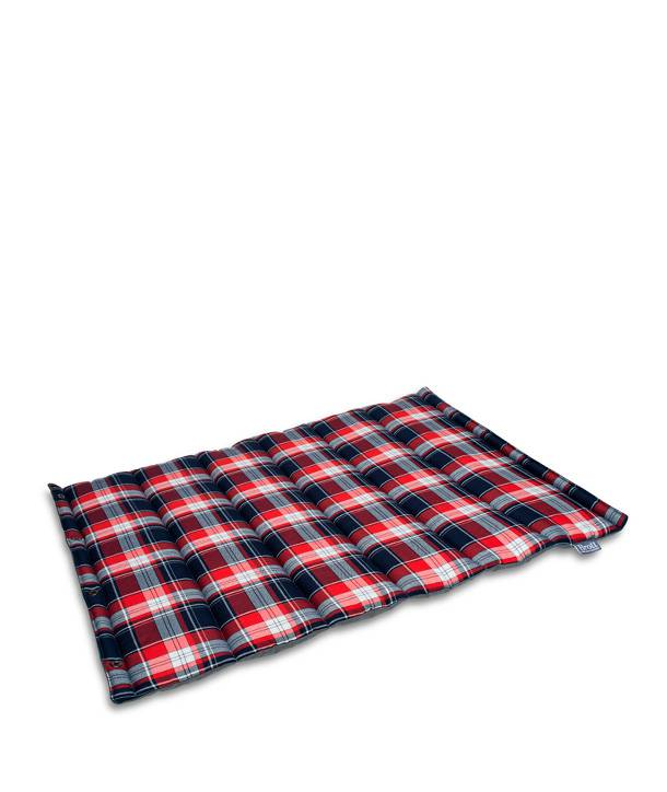 BLUE TARTAN ROLL BED