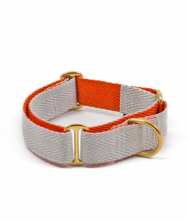 Collar per gos grey and orange