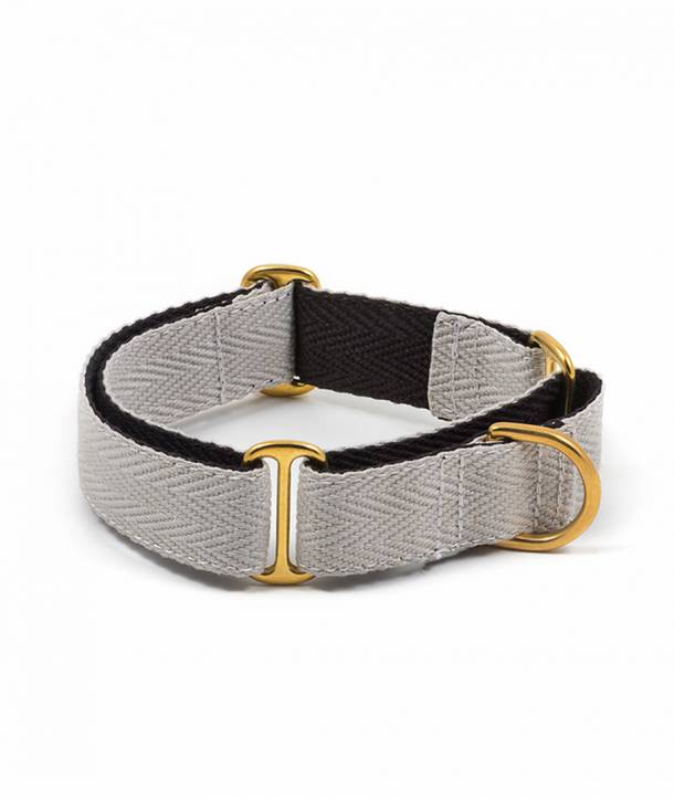 Grey and black dog collar