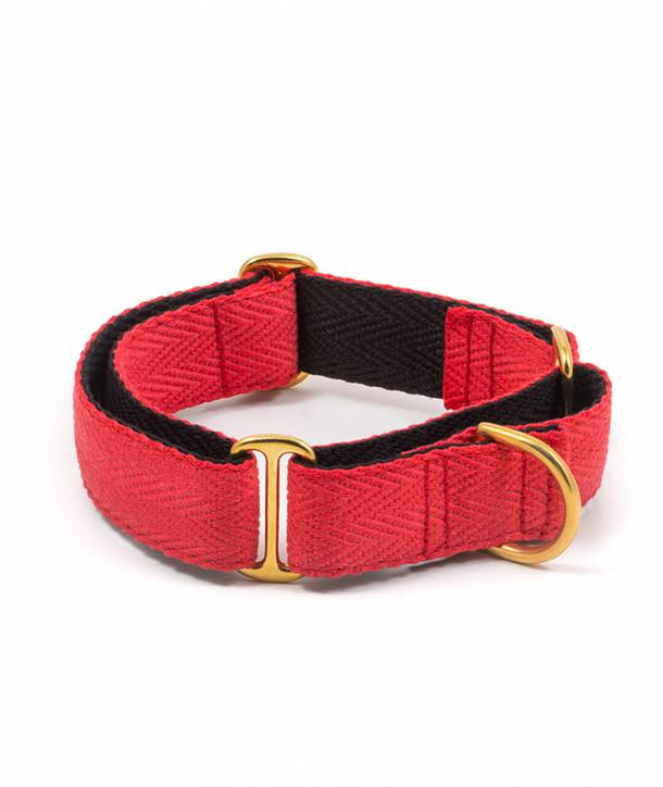 Red and black dog collar