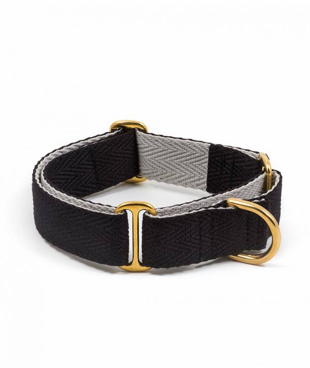 Black and grey greyhound collar